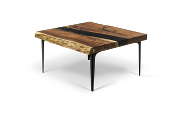 1757 Gold Grade Walnut Coffee Table with two live edges.