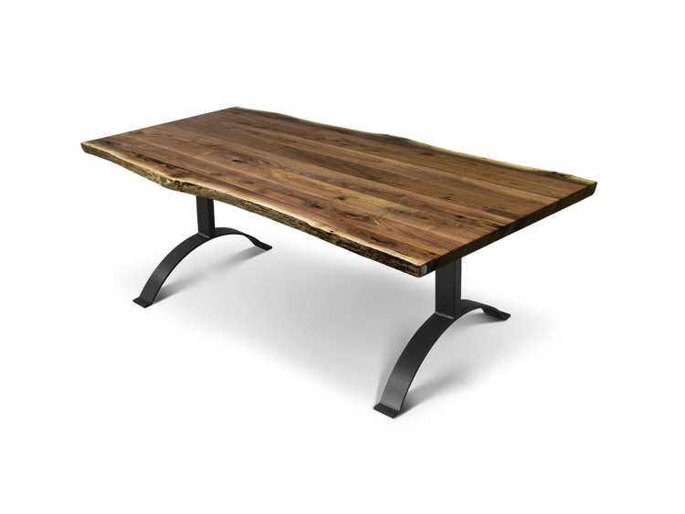 "810 72"" Plank Walnut Dining Table"