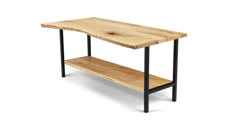 Custom Live Edge Open Kitchen Island