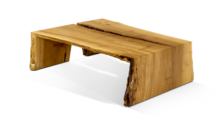 Custom Live Edge Waterfall Coffee Table