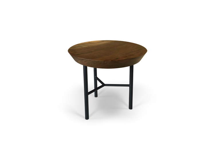 Custom Straight Edge Round Side Table