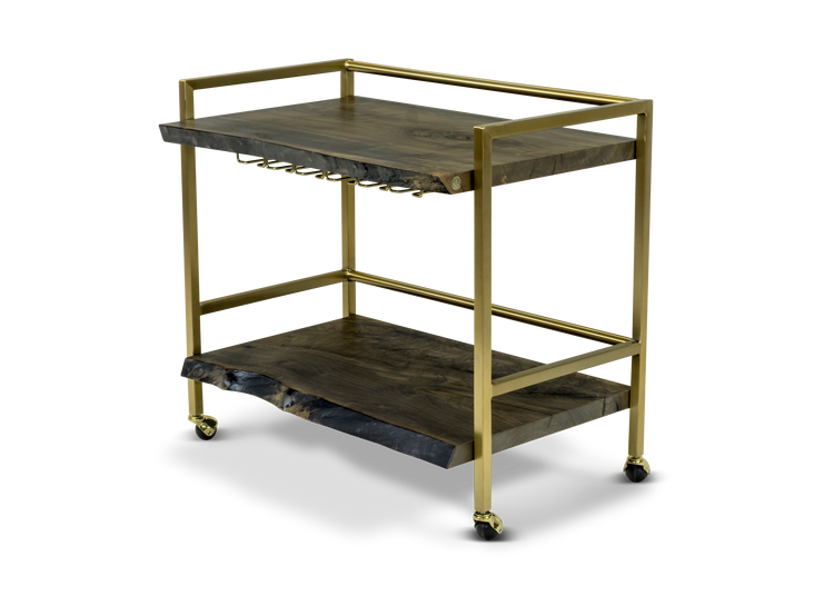 603 Ebonized Maple Bar Cart