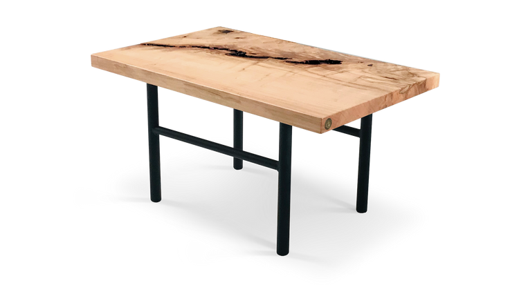 Square Edge Maple Side Table