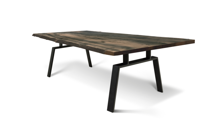 393 Bookmatched Ebonized Maple Dining Table