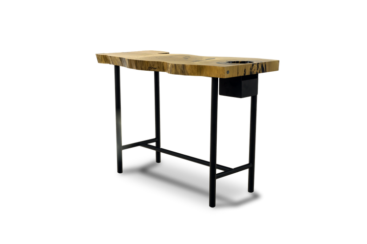 1520 Outdoor Catalpa Table with Planter box