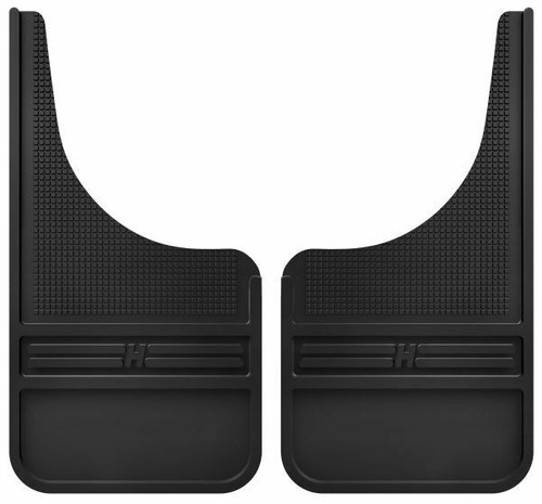 """Husky Mud Dog Front Rubber 12"""" Mud Flaps w/out Weight"""