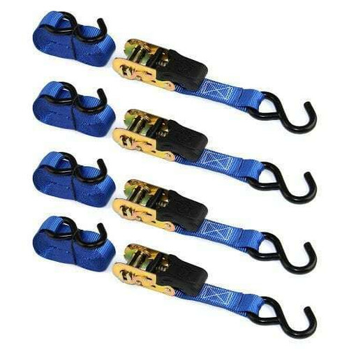 Bull Ring Heavy Duty Ratchet Straps Set of 4
