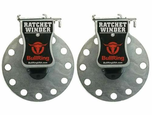 Bull Ring Tie-Down Ratchet Winders (Set of 2)