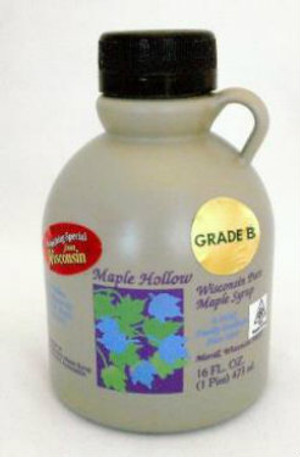 16oz (Pint) Pure Maple Syrup Dark Robust / Baking Grade, Kosher