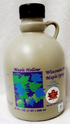 32oz (quart) Pure Maple Syrup Dark Robust / Baking Grade, Kosher