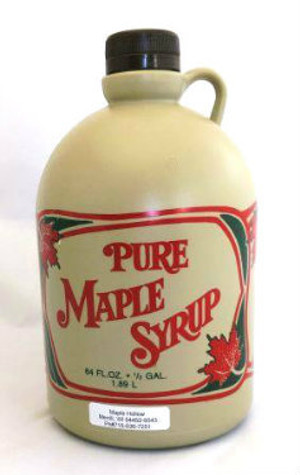 64oz (1/2 gallon) Pure Maple Syrup Dark Robust / Baking Grade, Kosher