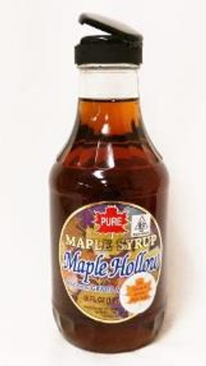 16oz (Pint) Pure Maple Syrup Amber Rich / Medium Amber- Glass Decanter -  Kosher