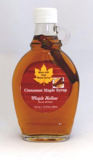 Cinnamon Maple Syrup - 8 oz glass jug