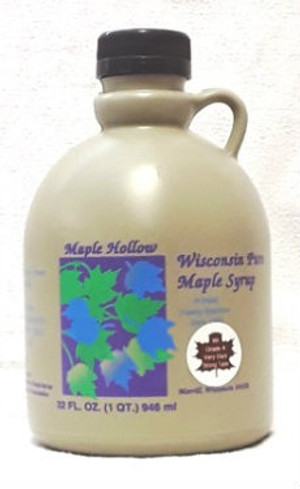 32oz (quart) Pure Maple Syrup, Very Dark and Strong, Kosher