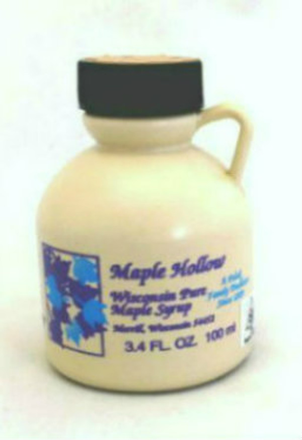 3.4oz Pure Maple Syrup Amber Rich / Medium Amber - Kosher - Plastic Jug