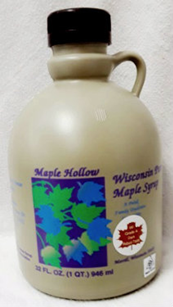 32oz (quart) Pure Maple Syrup Dark Robust /  Kosher