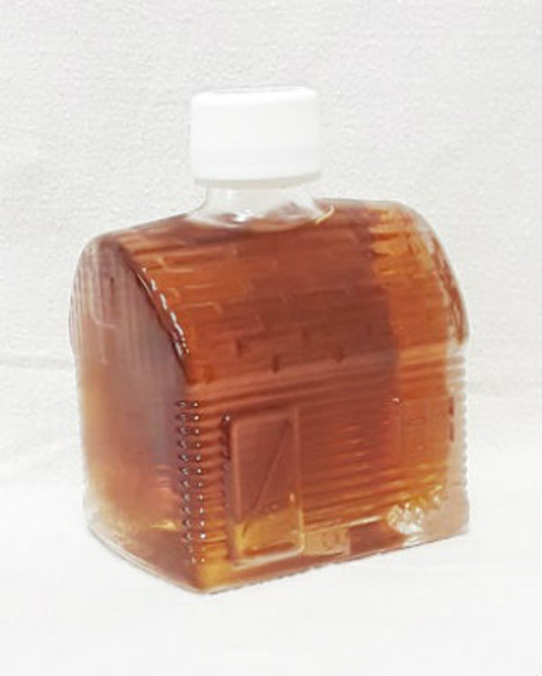 50ml Pure Maple Syrup Amber Rich / Medium Amber - Glass CABIN Shape Bottle Kosher
