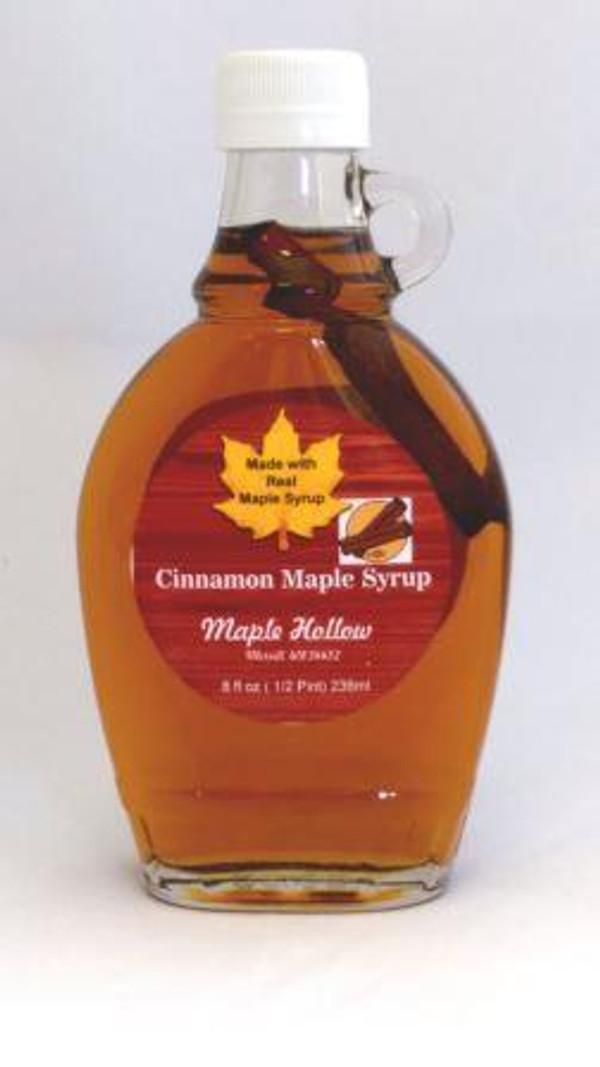 Cinnamon Maple Syrup - 8 oz glass jug