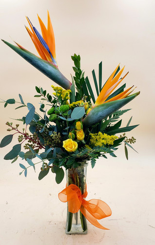 Birds of Paradise Bud Vase