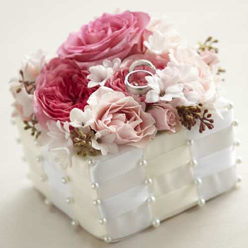 Flower Jeweled Ring Box