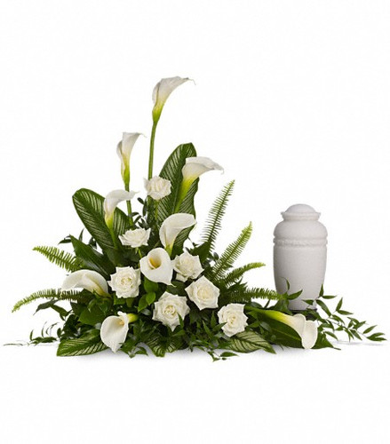 Stately Lilies Cremation Tribute