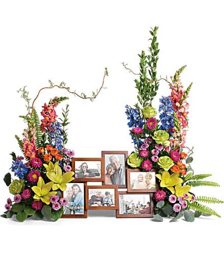 Loving Farwell Photo Tribute Bouquet