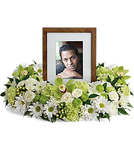 Garden Wreath Photo Tribute Bouquet