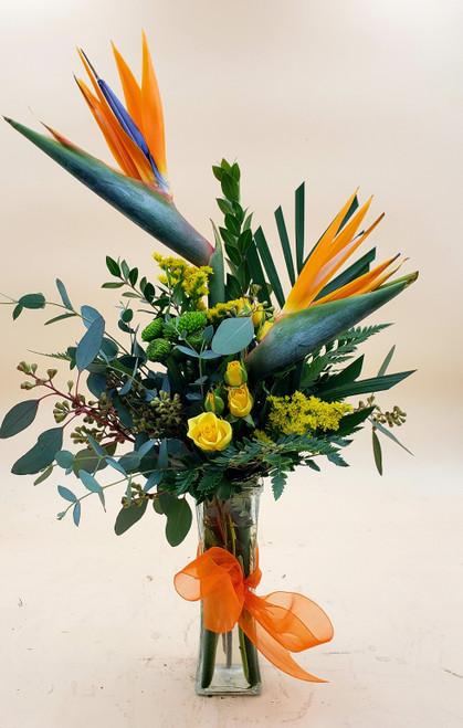 Birds of Paradise Bud Vase