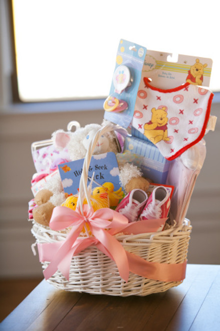 Welcome Home Baby Girl Basket