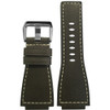 24mm Slate Russian Leather Watch Strap with White Stitching For Bell & Ross | Panatime.com