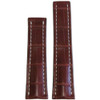 20mm Mahogany Matte Genuine Alligator Watch Strap with White Stitching for Breitling Deploy (20x18) | Panatime.com
