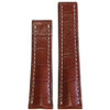 24mm Cognac Matte Genuine Alligator Watch Strap with White Stitching for Breitling Deploy (24x20) | Panatime.com