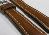 22mm Cognac Genuine Shell Cordovan Leather Watch Strap with White Stitching for Breitling (22x18) | Panatime.com