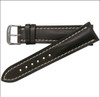 22mm Mocha Genuine Shell Cordovan Leather Watch Strap with White Stitching for Breitling (22x18) | Panatime.com