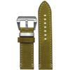 "26mm Honey Genuine Vintage Leather ""Corporal"" Watch Strap with White Stitching 