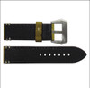 "26mm (XL) Honey Genuine Vintage Leather ""Corporal"" Watch Strap with White Stitching 