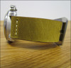 "26mm (XL) Golden Genuine Vintage Leather ""Desert Dweller"" Watch Strap with White Stitching 