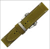 "24mm Honey Genuine Vintage Leather ""Corporal"" Watch Strap with White Stitching 
