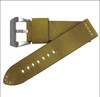 "24mm Golden Genuine Vintage Leather ""Desert Dweller"" Watch Strap with White Stitching 