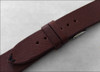 18mm Dark Brown Genuine Vintage Leather Watch Strap with Minimal Black Hand Stitching | Panatime.com