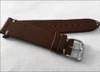18mm Dark Brown Genuine Vintage Leather Watch Strap with Minimal White Hand Stitching | Panatime.com