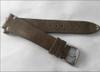 18mm Grey Genuine Vintage Leather Watch Strap with Minimal White Hand Stitching | Panatime.com