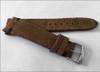 18mm Brown Rough Genuine Vintage Leather - Minimal Black Hand Stitching | Panatime.com