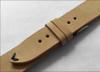 20mm Beige Genuine Vintage Leather Watch Strap with Minimal Black Hand Stitching  | Panatime.com
