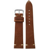 20mm (XL) Camel Genuine Vintage Leather Watch Strap with Minimal White Hand Stitching | Panatime.com