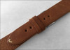 22mm Camel Genuine Vintage Leather Watch Strap with Minimal White Hand Stitching | Panatime.com