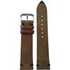 22mm Medium Brown Genuine Vintage Leather - Minimal Black Hand Stitching | Panatime.com