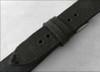22mm Rough Black Genuine Vintage Leather - Minimal Black Hand Stitching | Panatime.com