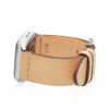 Beige Vintage Calf Leather Watch Band | For 42mm Apple Watch