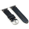 Black Genuine Alligator Flank Cut Watch Band For Apple Watch | Panatime.com